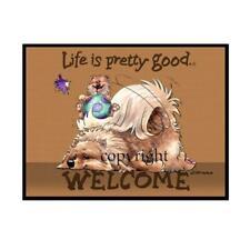 Pomeranian Dog Breed Life Is Good Cartoon Artist Doormat Floor Door Mat Rug