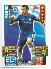 2015 / 2016 EPL Match Attax Base Card (69) Pedro Chelsea