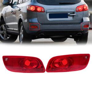 Pair Rear Bumper Reflector Lamp for Hyundai Santa Fe CM 2007-2009