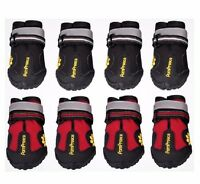 PomPreece - Dog Cat Shoes Red Black High Performance Running Boots Paws Injury