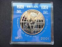 2001 PROOF £5 COIN CASED CELEBRATING THE VICTORIAN ERA 2001 FIVE POUNDS COIN.