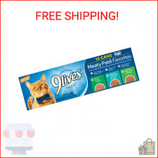 New listing 9Lives Paté Favorites Variety Pack Wet Cat Food, 5.5-Ounce Cans, 12-Count