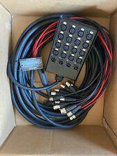 "Xspro 16 x 4 Channel 50' Pro Audio Stage Snake Combo Xlr 1/4"" Return 16x4x50"