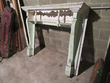 ~  ANTIQUE CARVED WALNUT FIREPLACE MANTEL 62 X 50  ~  ARCHITECTURAL SALVAGE