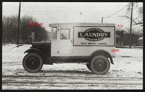 Photo Postcard RPPC. Delivery Panel Wagon Johnston Steam Laundry, Payette, Idaho