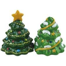 Mwah! 94436 CHRISTMAS TREES Ceramic Magnetic Salt & Pepper Shakers by Westland