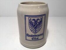 Vintage Klosterbrauerei Ettal. Beer Stein / Coffee Mug German 0.5 Liter