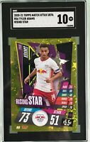 Tyler Adams 2020-21 Topps Match Attax Rising Star Gold Foil SGC 10 Gem Mint