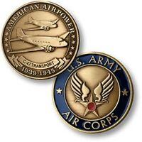 "Douglas C-47 Skytrain/Dakota Challenge Coin 1 1/2"" WWII Aviation  NTM-16027"