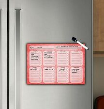 Weekly Planner, Magnet Dry wipe Schedule, To do Planner, Fridge, A4 Dry Erase
