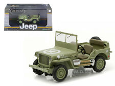1944 JEEP WILLYS C7 US ARMY GREEN STAR ON HOOD 1/43 DIECAST BY GREENLIGHT 86307