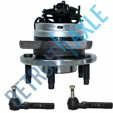 NEW 3 pc Kit - Front Wheel Hub and Bearing Assembly w/ ABS + 2 Outer Tie Rod End