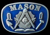 MASON MASONIC WORKER COMPASS TOOL BELT BUCKLES BOUCLE DE CEINTURE
