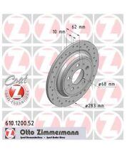 2 Sport Bremsscheiben hinten mit ABE  Zimmermann Volvo 850 V70-I XC70 AWD Allrad