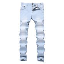 Men's Slim Fit Denim Pants Casual Long Straight Trousers Skinny Jeans 7 Colors