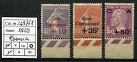 Francia - 1928 - Cassa d'Ammortamento - Unificato n.249/251 - nuovi - MNH