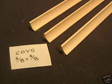 "3/8"" Cove Molding miniature basswood trim hobby  3pc."