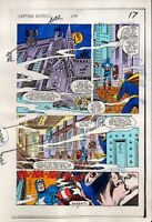 1984 Captain America 295 page 17 Marvel Comics original color guide art: 1980's