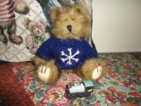 BABY TEDDY BEAR Shaggy Long Plush Snowflake Knitted Sweater Kinder Toy Train