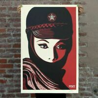 SHEPARD FAIREY MUJER FATALE SIGNED OFFSET LITHOGRAPH OBEY GIANT POSTER ART