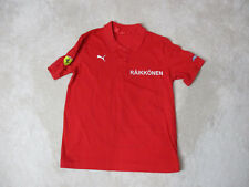 Puma Ferrari Polo Shirt Adult Small Red White Raikkonen Racing Racer Rugby Mens