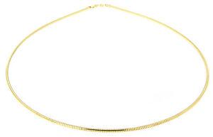 Halsreif Silber 925 vergoldet Tonda 1,5 mm Reif massiv Omega Gold 42 / 45 / 50