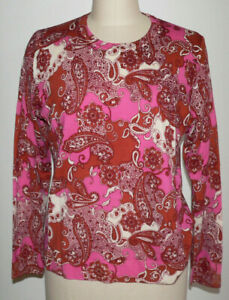 Women's J.CREW NWT Size XL Fall 2020 Merino Wool Margot Paisley Sweater Pullover