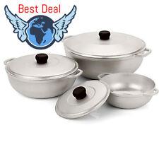 IMUSA 3-Piece Sanper Calderos Set Aluminum Caldero Cooking Cookware Pot Kitchen