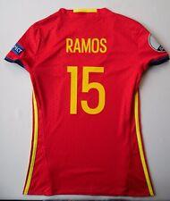 Sergio Ramos Spain Jersey 2016 Home Women S Shirt Camiseta Adidas AA0851 ig93
