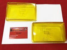 Glas Fernlicht gelb Porsche 928 (78-86) gelbglas Paar NOS BOSCH (-098)