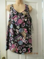 BLACK AND PURPLE SIZE 18 PJAMAS BY MARKS AND SPENCER