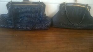 Pair of Vintage 1970s Oroton mesh evening bag clutch handbags