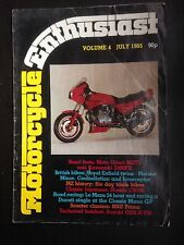 Motorcycle Enthusiast Magazine July 1985 - Very Good Condition