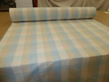 Laura Ashley - MIDFORD CHECK DUCK EGG - Cotton Fabric - Curtains & Upholstery