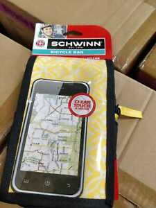 """Schwinn Bicycle Bicycle Bag Universal Cell Phones Holder Fits 6"""" phones, Yellow"""