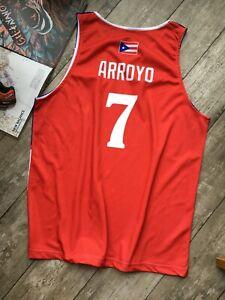 New Carlos Arroyo #7 Puerto Rico National Basketball Jerseys Custom Any Names