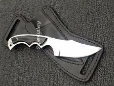 BOOT KNIFE CUSTOM D2 STEEL SMALL SKINNERS KNIFE BUFFALO HORN HANDLE KNIFE SALE
