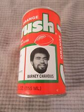 ORANGE CRUSH CAN Denver Broncos NFL FOOTBALL TEAM ~ BARNEY CHAVOUS DEFENSIVE END