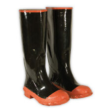 CLC Custom Leathercraft Rain Wear R21007 Red Sole and Toe Rubber Boot, Size 7