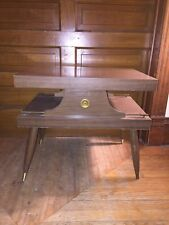 Vintage Mid Century Modern Wood Rectangle Coffee Table 2 Tier