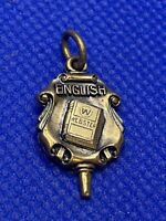 VINTAGE ENGLISH WEBSTER DICTIONARY CHARM JOSTENS SCHOOL FOB PENDANT JEWELRY