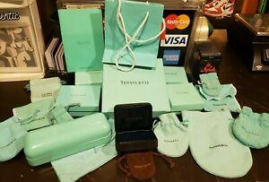 20 Piece BUNDLE of AUTHENTIC Tiffany boxes pouches bags eyeglass case No Reserve