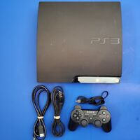 Sony PlayStation 3 PS3 Slim CECH-2001B Console W/ OEM Controller and cords