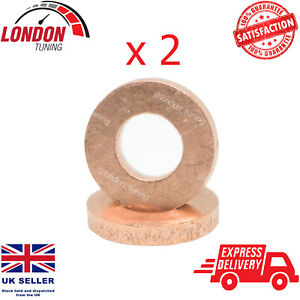 For Renault 1.5/1.9/2.2/2.5 Diesel Injector Seal Washers 2X 7703062072