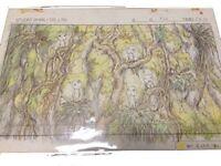 Studio Ghibli Replica Original Picture Cel Princess Mononoke Japan Limited Rare