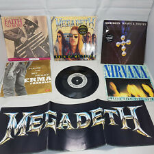 """Megadeth, Faith No More, Quireboys 7"""" Single set"""