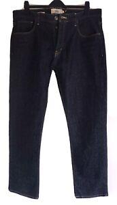 "New NEXT Premium Stretch Denim Straight Cut Quality Jeans 40""W 31""L Dark Blue"