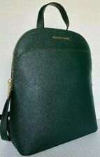 New Michael Kors Emmy Large Leather Backpack Racing Green