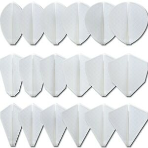 Cosmo Darts Fit Flight Pro Series White Dart Flights for Cosmo Stems 18 Shapes