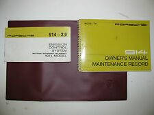 1974 Porsche 914 factory owners manual packet as originally provided with car